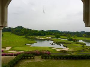 米原ゴルフ倶楽部 クラブハウス レストランからの眺め /  / ゴルフ会員権の千葉ゴルフ会
