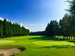 八幡カントリークラブ クラブハウスからの眺め/ゴルフ会員権の千葉ゴルフ会
